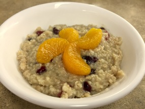 Cranberry Citrus Oatmeal