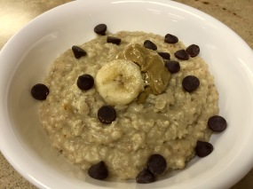 Sunbutter Banana Chocolate Chip Oatmeal