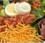 Chef Salad - Mixed vegetables with sliced egg, cheddar and roasted turkey