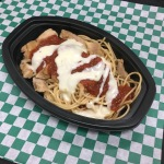 Pollo Rosa - Grilled chicken, noodles, mix of tomato and white cheese sauce