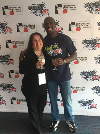 "Always hosting fun and health-oriented programs for her district, April organized a local celebrity event called ""Where in BMHS Is Devin McCourty?"" a New England Patriots defensive back, leading up to a Fuel Up to Play60 event."
