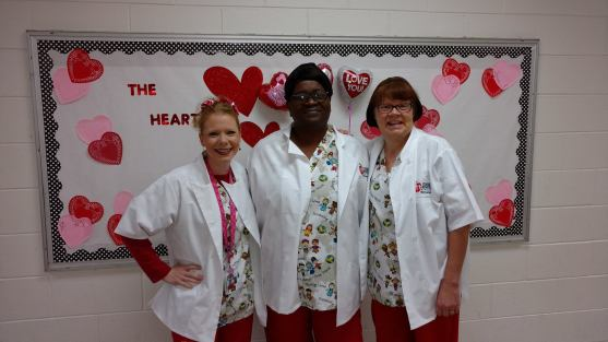 Bladen County Schools (NC) child nutrition staff dressed the part on Valentine's Day!