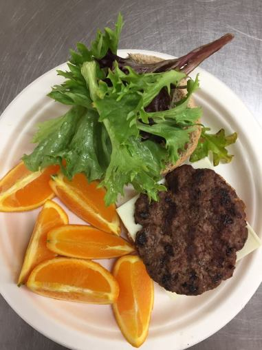 Locally raised Vermont beef used to make hamburgers in Burlington Schools (VT)