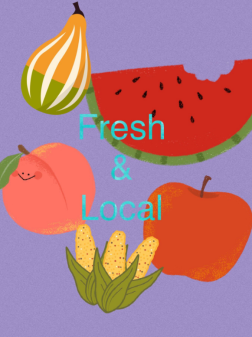 Promotional material informs students of upcoming local ingredients to be used on their school menus in Arlington Schools (VA).