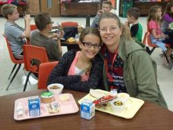 L.T. Ball Intermediate School (OH) celebrates Take Your Parent to Lunch Day.