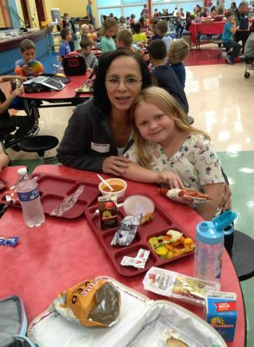 Parents were invited to eat lunch with their children at Gilles-Sweet Elementary (OH).