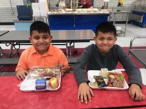 Students with Enhanced Snack
