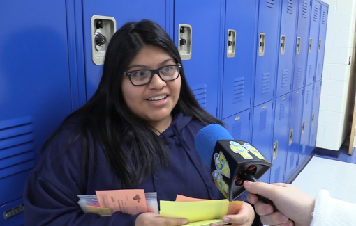 Lunch Madness, a student-produced segment, hosted the contest to find out the number one choice of lunches among students and staff.