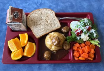 Swedish meatballs with mashed potatoes - Bayfield School District (WI)