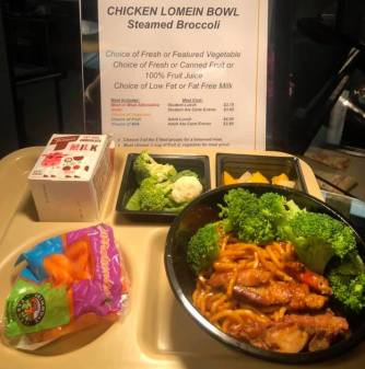 Chicken lomein bowl - Quaker Valley School District (PA)