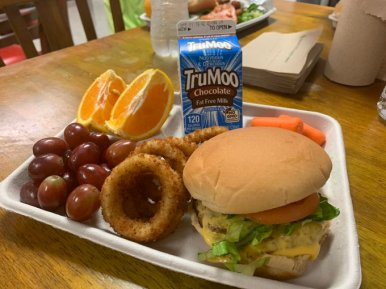 100% beef, local veggies hamburger - Loudoun County Public Schools (VA)