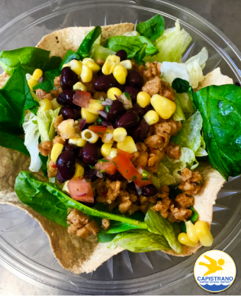 Vegan taco salad.