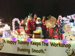Tullahoma City Schools (TN) school nutrition staff participated in their town's Christmas Parade.