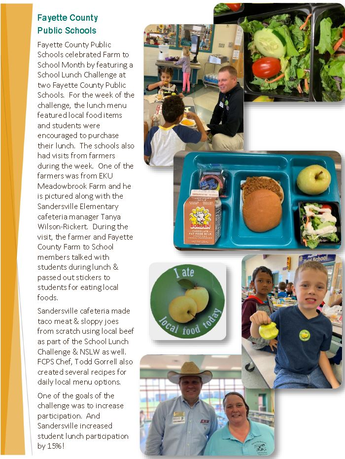 Sandersville Farm to School Challenge