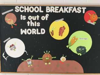 Pelham PSD (NH) used the outer space theme in all of their bulletin boards.