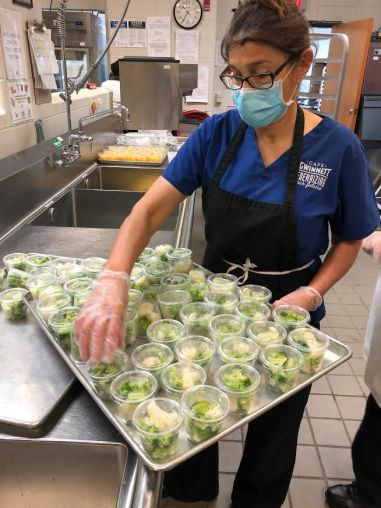 The utmost of safety is being taken by school foodservice professionals. Gwinnett County Public Schools (GA) and other districts have become accustomed to social distancing, wearing gloves and face masks.